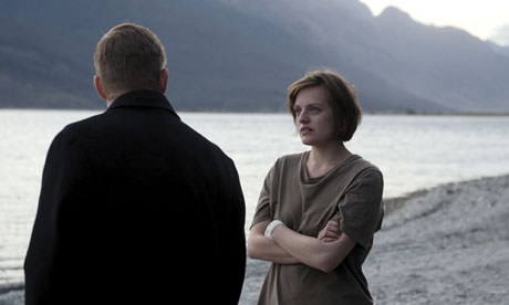 Elisabeth Moss and Peter Wenham as Robin and Al in Top of the Lake